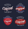 set of original hand written lettering for label vector image