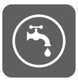 Water Tap Flat Squared Icon vector image
