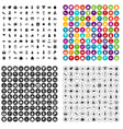 100 gift icons set variant vector image vector image