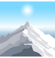 a midday sun over the mountains landscape with vector image