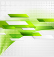 Abstract green tech wavy background vector image vector image