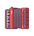 accordion line icon vector image