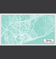 accra ghana city map in retro style outline map vector image