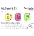 Alphabet - Part 2 vector image