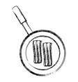 bacon stripe icon vector image vector image