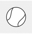 ball icon isolated vector image vector image