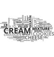 best recipes cookies and cream cheesecake text vector image vector image