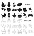 children toy black icons in set collection for vector image