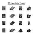 chocolate icon set graphic design vector image