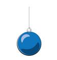 christmas ball blue cartoon vector image