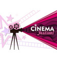 cinema festival paper cut poster template vector image