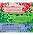 Collection of horizontal banners with floral vector image vector image