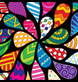 colorful hand-drawn pattern vector image vector image