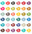 Colorful Paper 10 off 20 off 30 off 40 off 50 off vector image