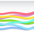 colorful wavy stripes vector image