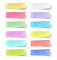 Colour sticky notes isolated on white background vector image vector image