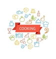 cooking concept outline vector image vector image