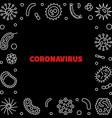 coronavirus virus concept frame or vector image vector image