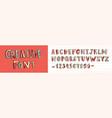 creative latin font or decorative english alphabet vector image