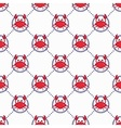 Cute crabs pattern vector image vector image