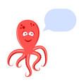 cute octopus speaks vector image