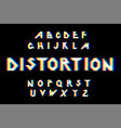 distorted glitch font vector image vector image