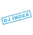 Dj Index Rubber Stamp vector image vector image