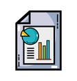 document with statistics bar diagram graphy vector image vector image