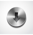 down sign on button isolated vector image