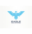 eagle hawk spread wings falcon creative symbol vector image vector image