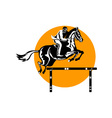 Equestrian Show Jumping Retro vector image vector image