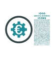 Euro Machinery Rounded Icon with 1000 Bonus Icons vector image vector image