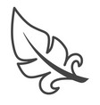 feather isolated icon pillow mattress or blanket vector image vector image