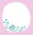 flowers decorated white circular frame vector image
