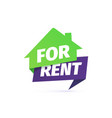 for rent house icon rental apartment vector image vector image