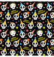 Funny Halloween seamless pattern with bright vector image vector image