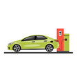 gas station refueling a car vector image vector image