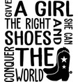 give a girl she can right and shoes conquer vector image vector image