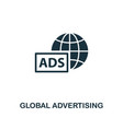 global advertising icon premium style design from vector image vector image