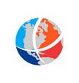 globe world logo icon concept vector image