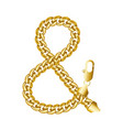 gold ampersand or and or short and sign made of vector image vector image