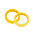 gold engagement ring jewelry related icon flat vector image