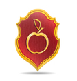 Golden apple vector image