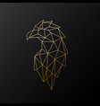 golden polygonal eagle isolated vector image vector image
