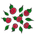 hand drawn red roses vector image vector image