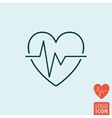 Heartbeat icon isolated vector image