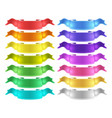isolated colored satin ribbons set vector image