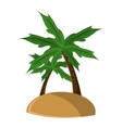 Isolated palm tree and island design