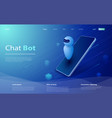 isometric artificial intelligence chat bot vector image