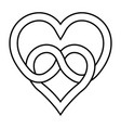 knot two hearts symbol eternal love vector image vector image